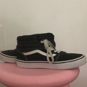 Black high top vans size 4.00 youth